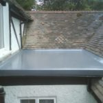 Fibreglass flat roofing installation in Dublin